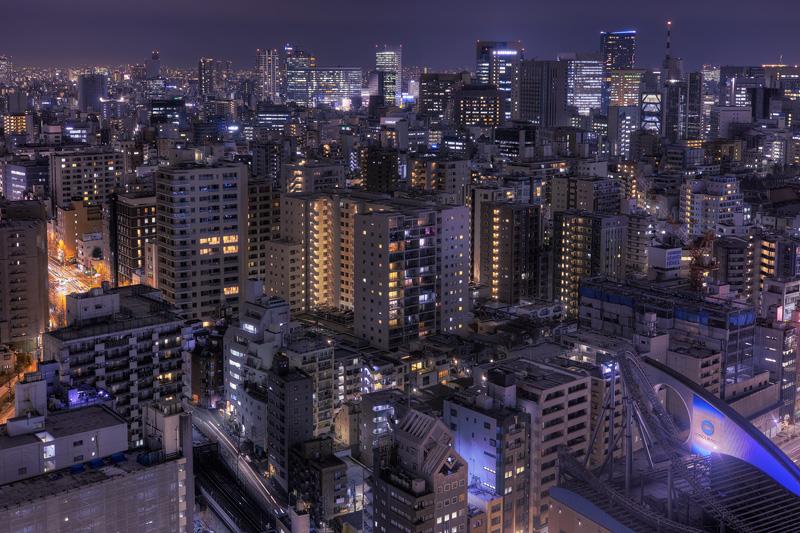 HDRシビックセンターからの東京夜景nobiann