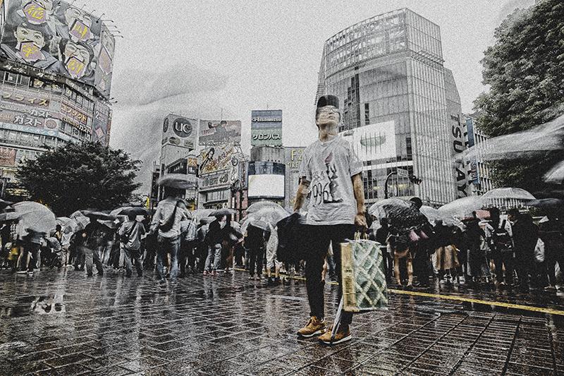 雨の渋谷nobiann