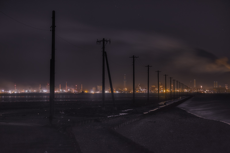 送電線と工場dp3merrill 2014 12 22nobiann
