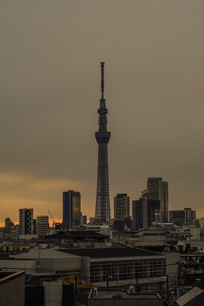 Tokyo skytree view from my office 2015 2 13nobiann