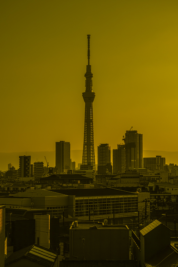 Tokyo skytree view from my office 2015 4 2nobiann