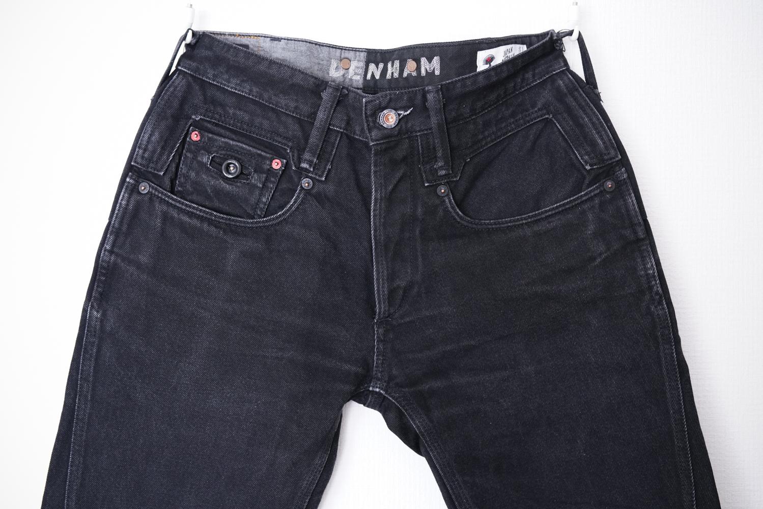 ブラックジーンズ 色落ち エイジング 経年変化 デンハム