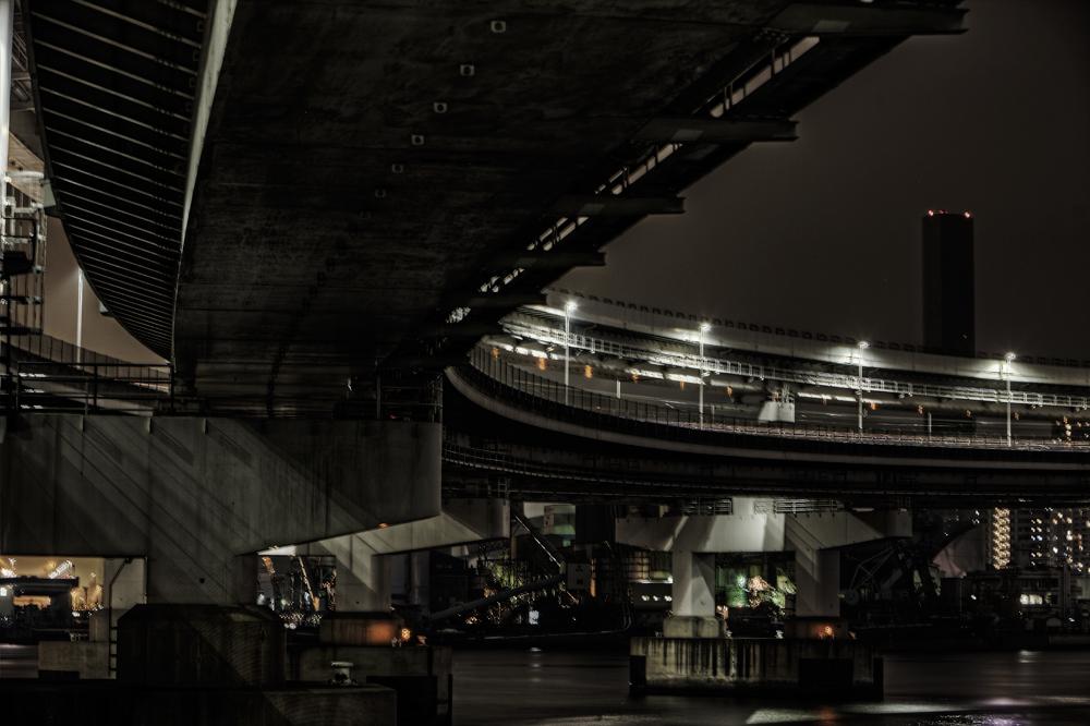 レインボーブリッジと工場nobiann
